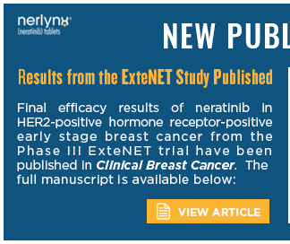 Final efficacy results of neratinib in HER2-positive hormone receptor-positive early stage breast cancer from the Phase III ExteNET trial have been published in Clinical Breast Cancer. The full manuscript is available below: